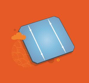 ilustração de uma celula solar